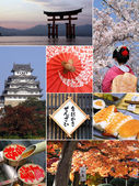 Landmarks and Collage of Japan — Foto de Stock