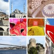 Landmark collage of Istanbul, Turkey - Stock Photo