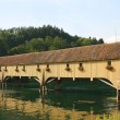 Traditional Covered Wood Bridge — Stock Photo