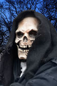 Grim Reaper at night — Stock Photo