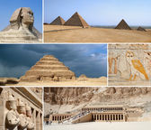Egypt Landmark Collage - Highlights — Stock Photo