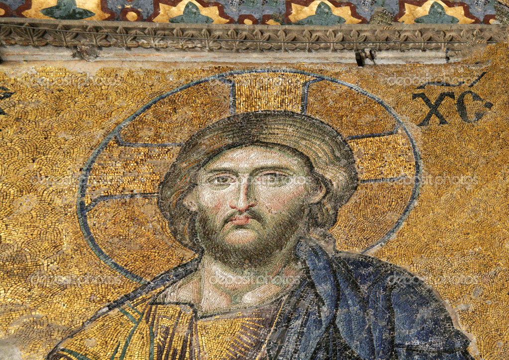 Mosaic of Jesus Christ, Hagia Sofia in Istanbul, Turkey — Stock Photo #12894610