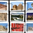 World Landmark collage — Stock Photo