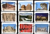 World Landmark collage — Stock Photo