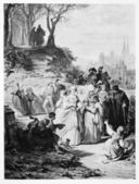 Faust Illustration: Villagers after Church mass — Stockfoto