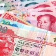 Stock Photo: Chinese Yuvs Hong Kong Dollars