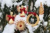 Christmas decorations on tree — Stock Photo