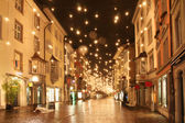 Street in a Christmas night — Stock Photo