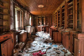 Abandoned library — Stock Photo
