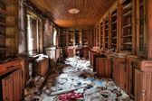 Abandoned library — Stock Photo