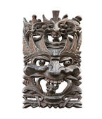 Totem mask, isolated — Stock Photo