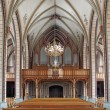 Church Interior (hinter part with view to organs) — Stock Photo