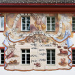 Sundial in Barock Painting Style with precise month position — Photo