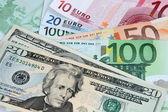 US Dollar versus Euro — Stock Photo
