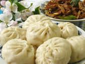 Chinese food specialty - steamed dumpling — Stock Photo