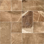 Unesco Heritage: Lines and Geoglyphs of Nazca, Peru - collage — Stock Photo