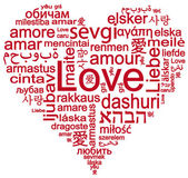 Love in different languages — Stock Photo