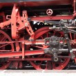 Wheels of a steam locomotive — Stock Photo