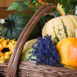 Stock Photo: Basket with farm products