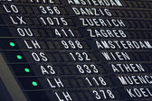 Airport flight information Board — Stock Photo