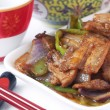 Chinese food specialty - twice-cooked pork — Stock Photo