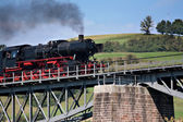 """Nostalgic train """"Pig Tail Line"""" in the Black Forest, Germany, — Stock Photo"""