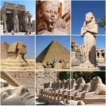 Egypt Landmark Collage - Highlights — Stock Photo