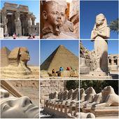 Egipt gród kolaż - podkreśla — Zdjęcie stockowe