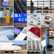 Air travel collage — Stock Photo