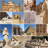 Egypten landmark collage - höjdpunkter — Stockfoto