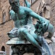 Stock Photo: Fountain of Neptune in Florence - Italy