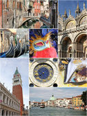 Collage von venedig, italien — Stockfoto