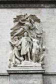 Sculpture on the Arch of Triumph, Paris, France — Stock Photo