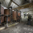 Interiors of an abandoned factory — Foto Stock