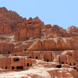 Stock Photo: Cave dwellings in the ancient city of Petra, Jordan