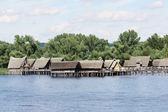 Prehistory Lake Dwellings Unteruhldingen on the lake of Constance, Germany — Stock Photo