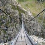 Trift suspending bridge near Trift Glacier in Switzerland — Stock Photo