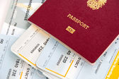 Passport and boarding cards — Stock Photo