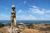 The Mermaids by Lili Perkins, at the tip of Punta del Este, Uruguay — Stock Photo