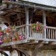 Details of a traditional farm house in Alpine regions — Stock Photo