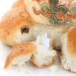 The traditional Swiss bread for Epiphany Day  — Stock Photo