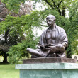 Statue of Mahatma Gandhi in Geneva, Switzerland — Stock Photo