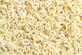 Pasta in letter form — Stock Photo