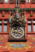 Clock on the Basel Town Hall, Switzerland — Стоковое фото