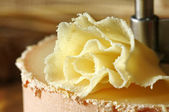 Swiss cheese specialty: Tete de Moine — Stock Photo