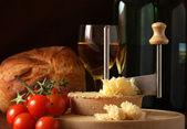 Swiss Cheese Specialty Tete de Moine — Stock Photo