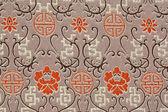 Oriental Silk Fabric Pattern — Stock Photo