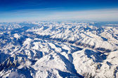 The Alps in areal view — Stock Photo