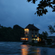 Stock Photo: Old Customers-House at Rhine River-side