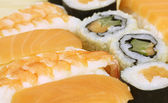 Sushi Assorted pieces - macro studio shooting — Stock Photo